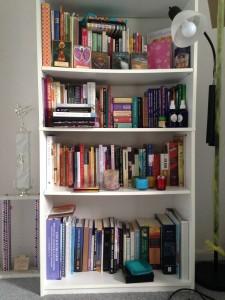 tidied book shelf